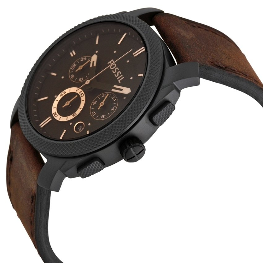 Fossil FS4656 Machine Mid-Size Chronograph Brown Leather Watch